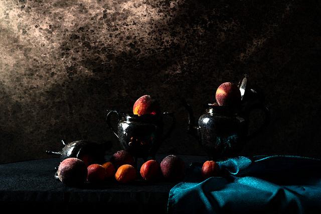 Les pêches et les abricots