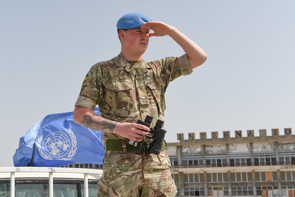Lance Corporal Scott Lees (22) from the UK serves in the Mobile Force Reserve with UNFICYP. (Photo: UNFICYP)