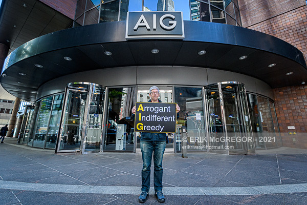 NYC: Protest At AIG's Shareholder Meeting