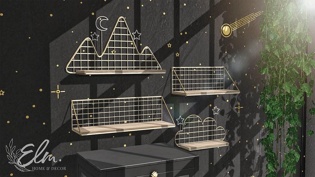 Elm – Kaia Metal Shelves – Collabor88