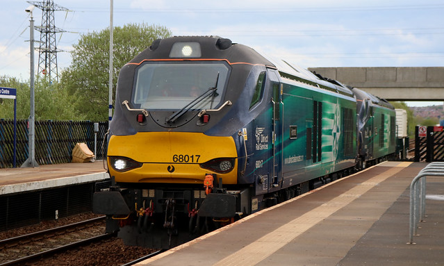 Class 68: 68017 + 68002 Direct Rail Services MetroCentre
