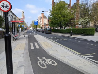 CPR bus and cycle lane