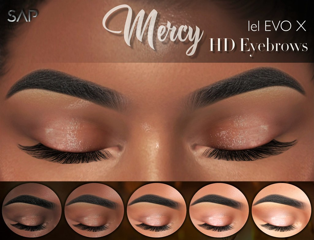 ☾ Mercy Eyebrows with Highlighter (Lelutka Evo / X) ☽