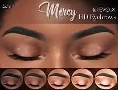 ☾ Mercy Eyebrows with Highlighter (Lelutka Evo / X) ☽