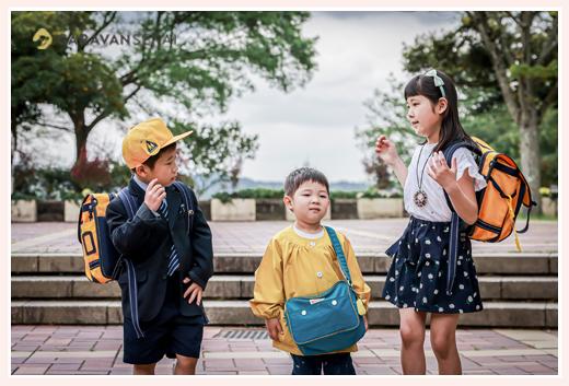 入学・入園記念の家族写真