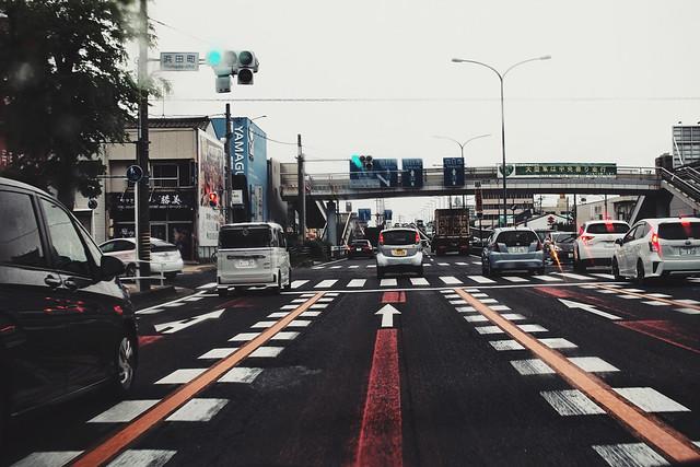 浜田町という交差点を通過するところ