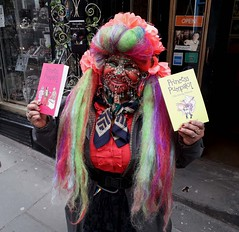 Wed, 05/12/2021 - 17:21 - This is the Elaine Davidson with a copy of Princess Pumpalot: The Farting Princess and Princess Pumpalot: The Super-Farting Bean Mystery. Elaine is the 'Most Pierced Woman' according to the Guinness World Records. I have no reason to doubt this claim!