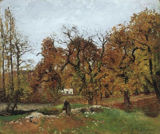 Paysage d'automne près de Pontoise (C Pissarrro)