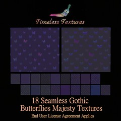TT 18 Seamless Gothic Butterflies Majesty Timeless Textures