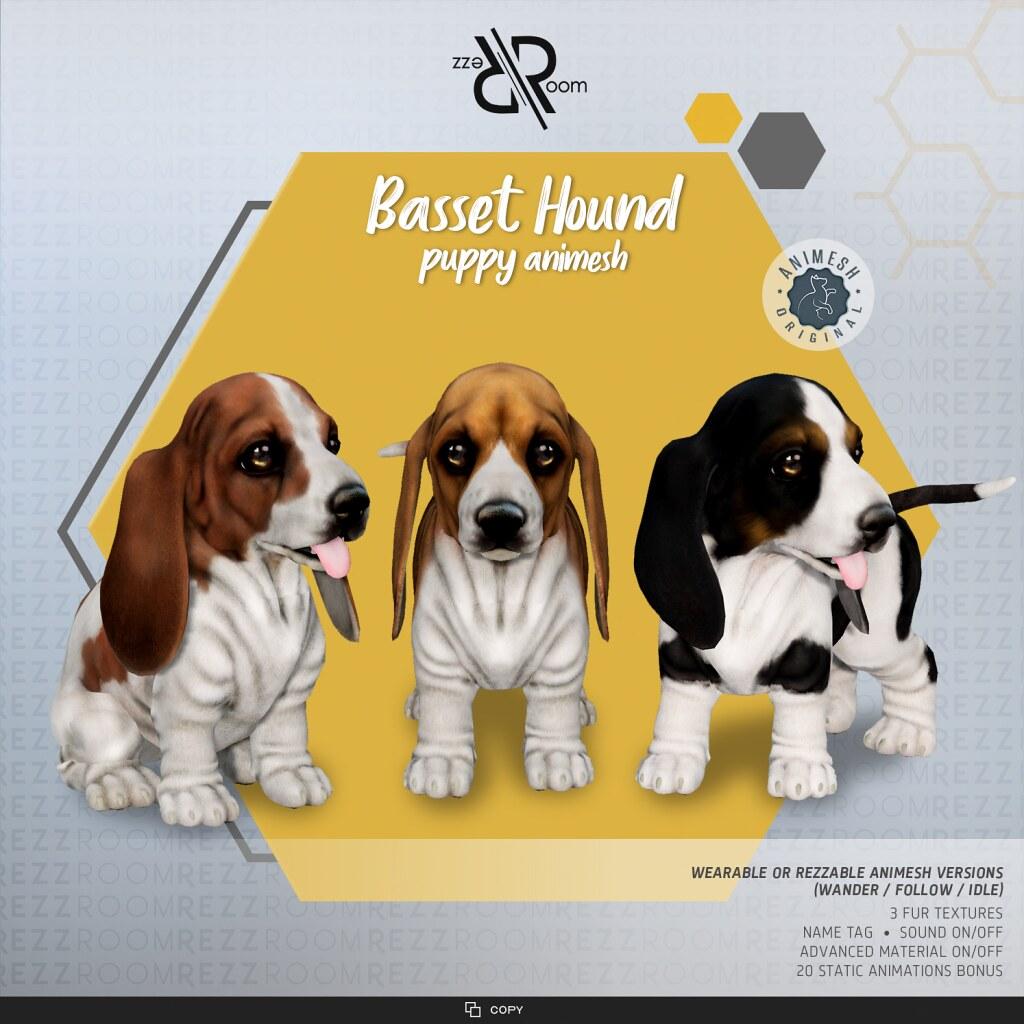 [Rezz Room] Basset Hound  Puppy Animesh (Companion)