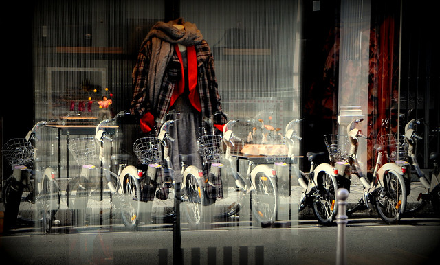 Reflections, Coats and Bikes