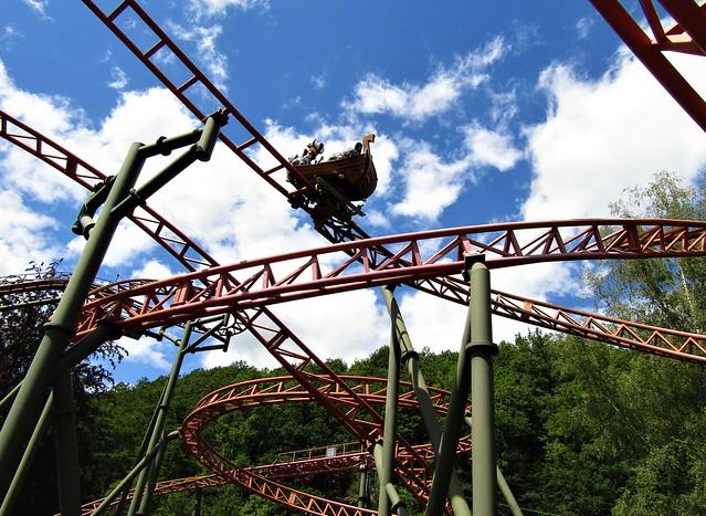 Vicky the Ride Rollercoaster in Plopsa Coo in the Belgian Ardennes