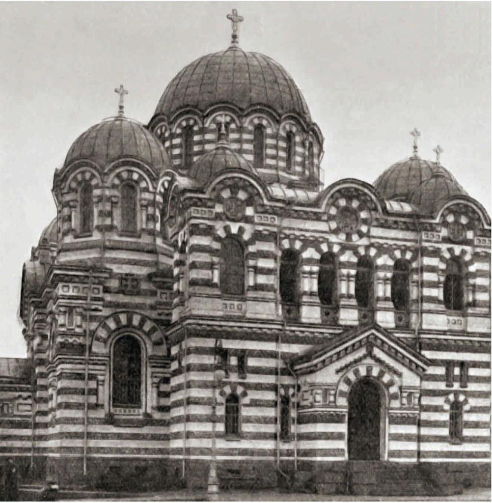 1913. Церковь Казанской Богоматери на Большой Охте, сооруженная на средства братьев Елисеевых