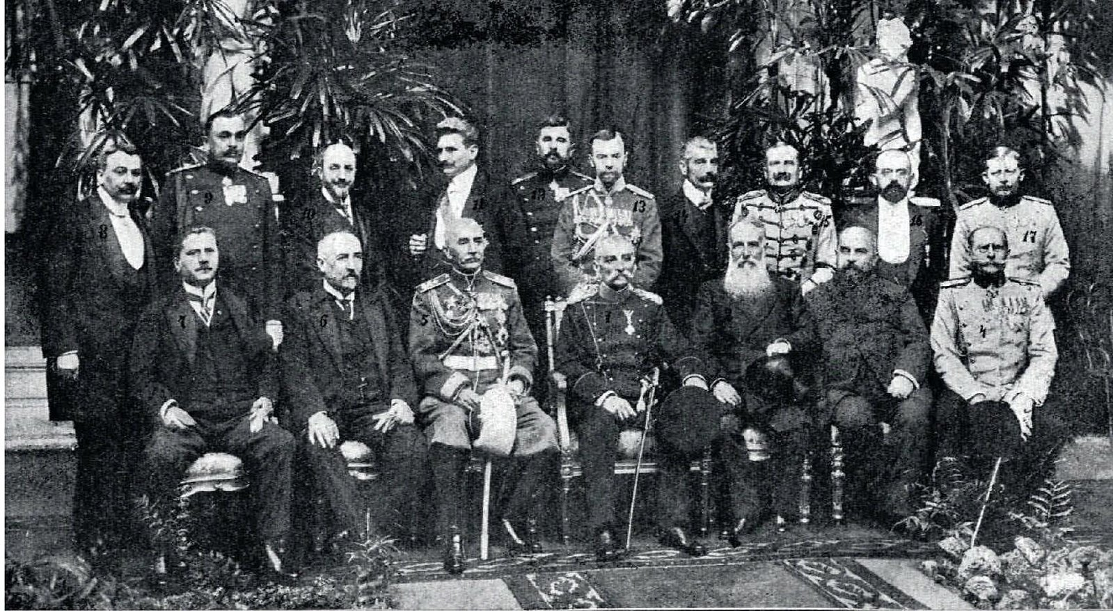 1910. Король Сербии Пётр I Карагеоргиевич со свитой