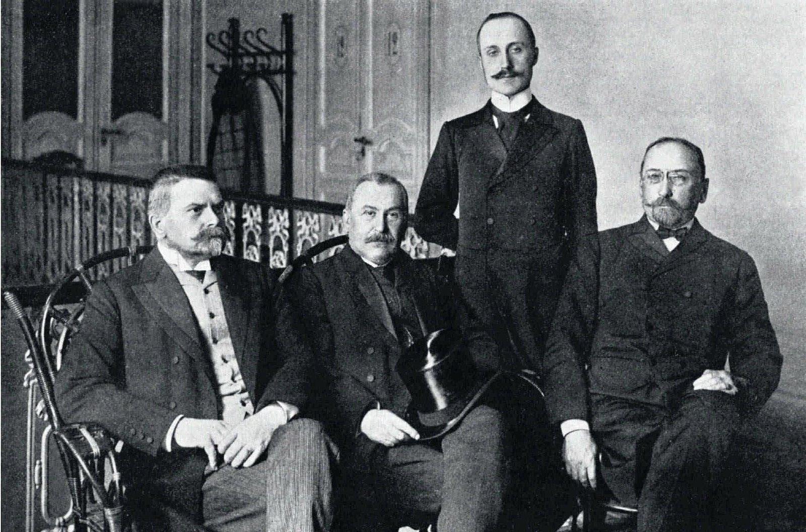 1908.Славянские представители в Петербурге. уполномоченные от всех славянских партий в австрийском парламенте