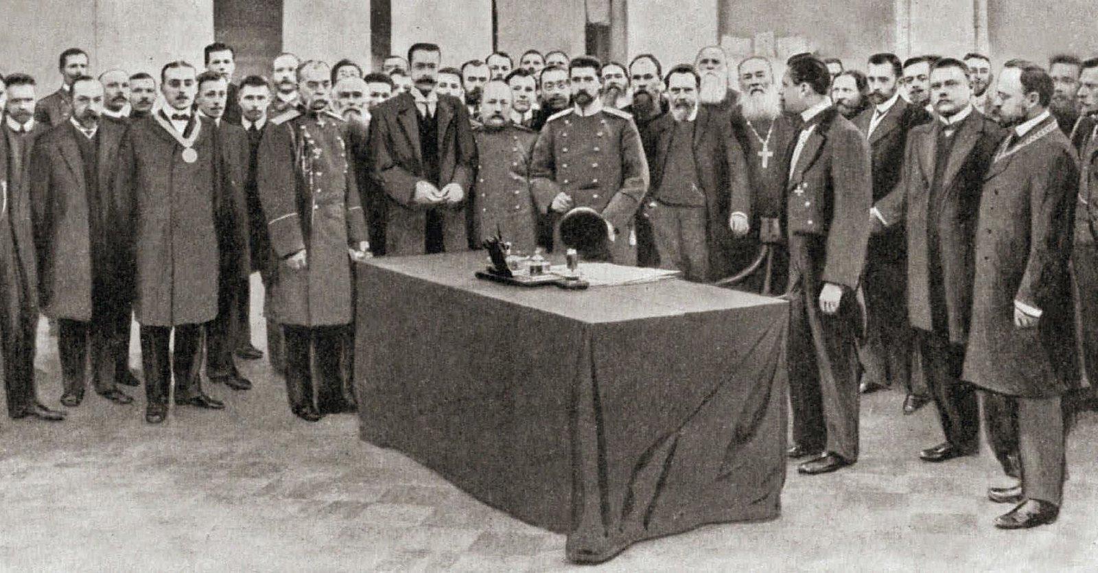 1908. Наследный принц Румынский Фердинанд в Государственной Думе