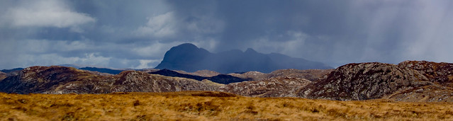 Suilven and showers passing, NW Highlands of Scotland