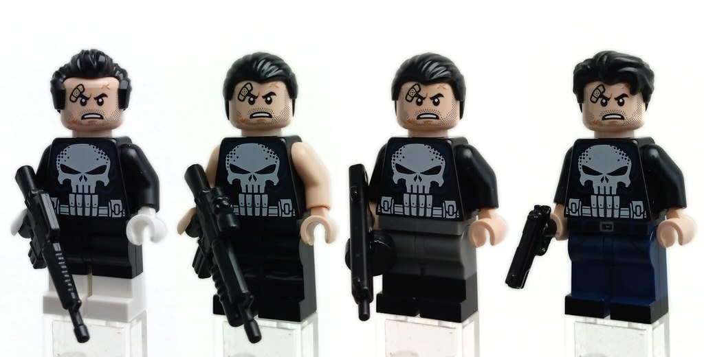 LEGO Minifigs   A few iterations of The Punisher
