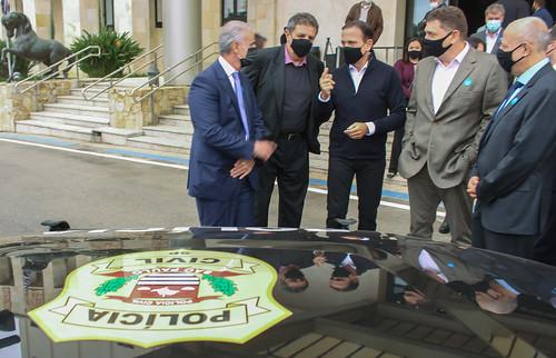Governador João Doria entrega 105 viaturas para a Polícia Civil do estado de São Paulo, as primeira blindadas da corporação