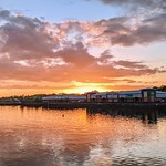 Tonights sunset over Preston Docks