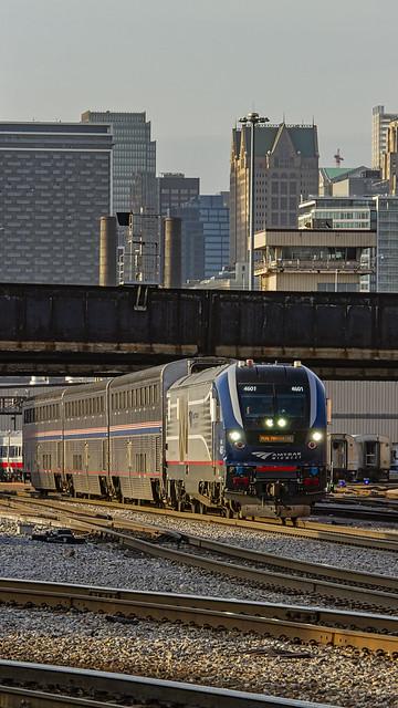 Amtrak Train 370, IDTX 4601, The Pere Marquette