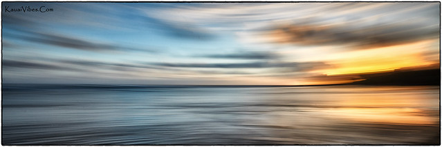 Anahola, Kauai, Sunrise. An Abstract and Panorama.