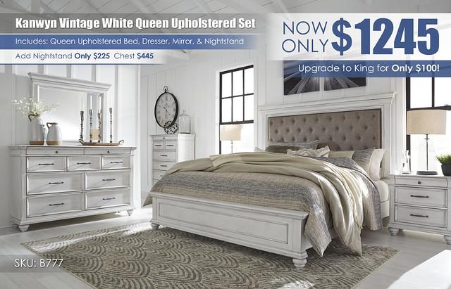 Kanwyn Vintage White Upholstered Bedroom Set_B777-158-56-MOOD-A_May_2021