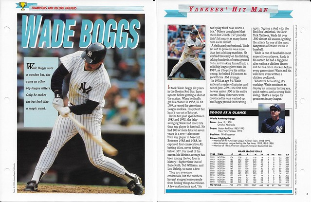 1994 Newfield Sports Pages - Champions and Record Holders - Boggs, Wade
