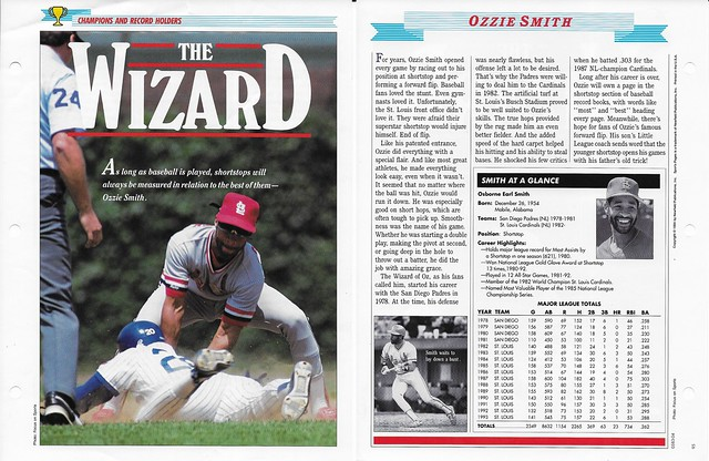 1995 Newfield Sports Pages - Champions and Record Holders - Smith, Ozzie