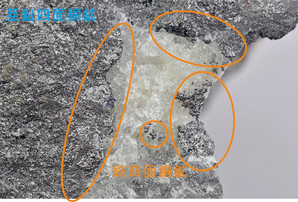 各四面銅鉱の分布