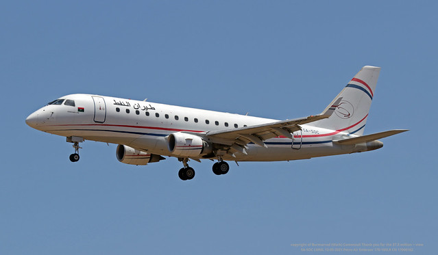 5A-SOC LMML 12-05-2021 Petro Air Embraer 170-100LR CN 17000162