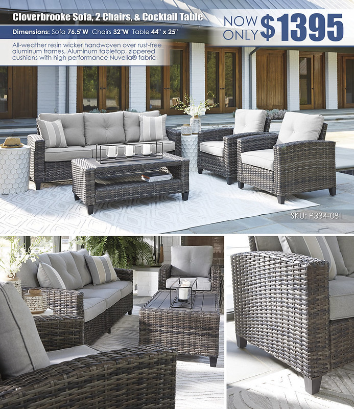 Cloverbrooke Sofa 2 Chairs and Cocktail Table_P334-081_Update