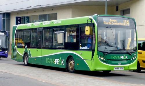 YX65 RGU 'Bowers Coaches' t/a 'High Peak Buses', Chapel en le Frith, Derbyshire. Alexander Dennis Ltd. (ADL) E20D / 'ADL' Enviro 200  on Dennis Basford's railsroadsrunways.blogspot.co.uk'