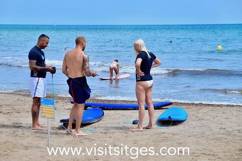 Surf en la Marina d'Aiguadolç
