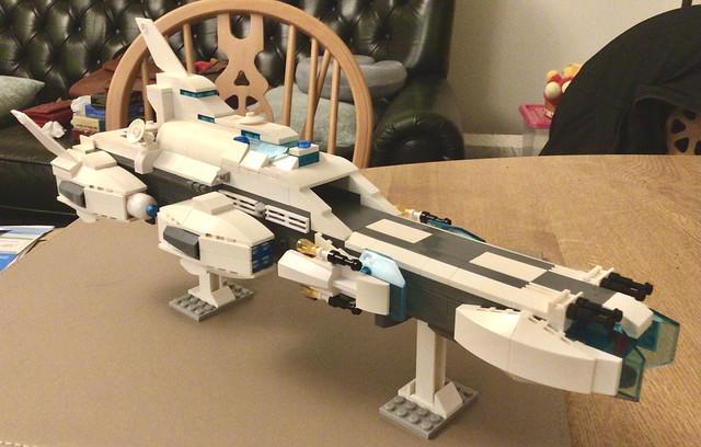 Wilko Blox Moc ship progress 2