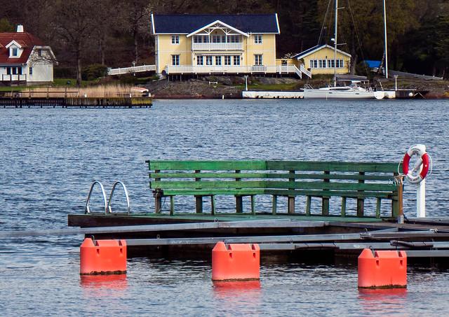 Bathing platform in Stenungsund Harbor