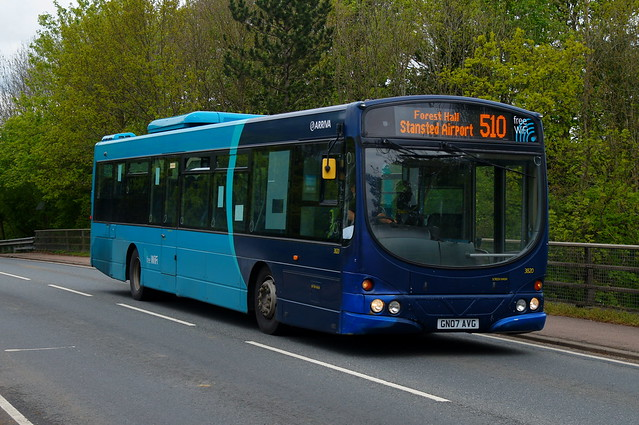 Ware Wanderer: Arriva Harlow Volvo B7RLE/Wright Eclipse Urban GN07AVG (3820) Church Road Stansted Mountfitchet 13/05/21