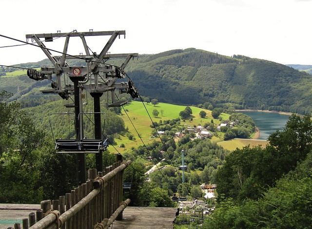 Chair Lift in Plopsa Coo in the Belgian Ardennes