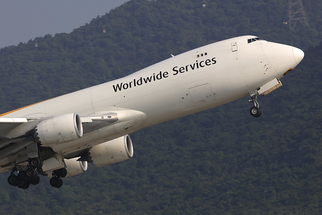 N607UP, Boeing 747-8F, UPS, Hong Kong