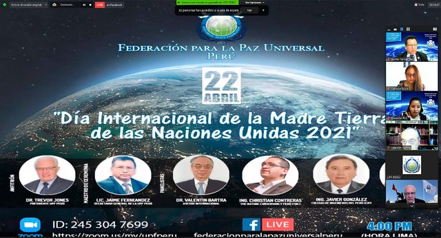 Peru-2021-04-22-UPF-Peru Honors UN International Mother Earth Day
