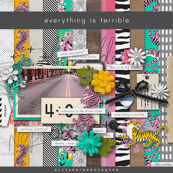 bright and fun digital scrapbooking kit from the Lilypad