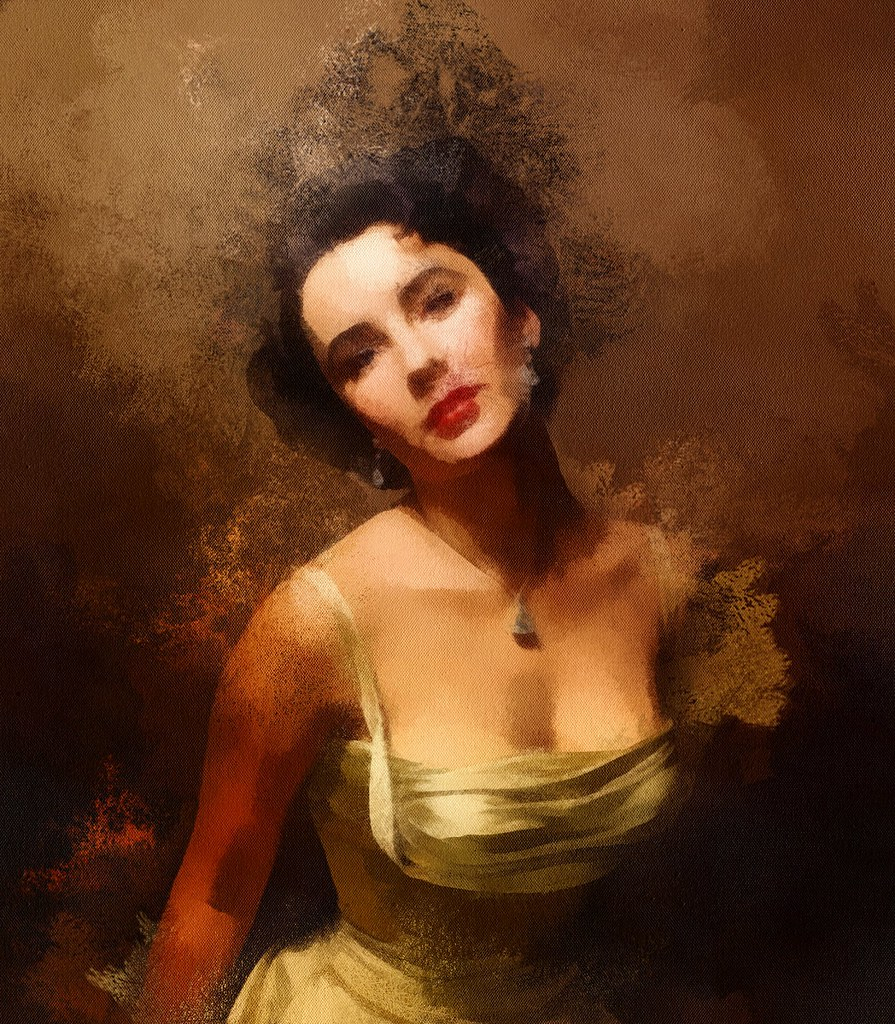 Liz Taylor Portraitist Painting