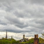 Stormy clouds over Preston Rooftops