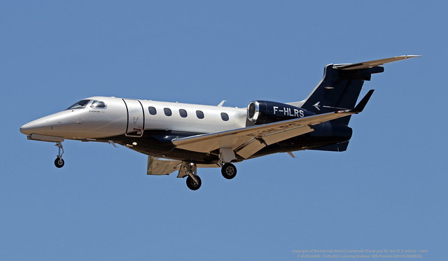 F-HLRS LMML 13-05-2021 Luxwing Embraer 505 Phenom 300 CN 50500232