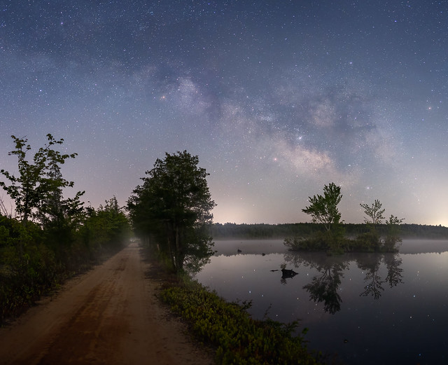 Pine Barrens NJ Milky Way May 2021 Jason Gambone-44-Pano