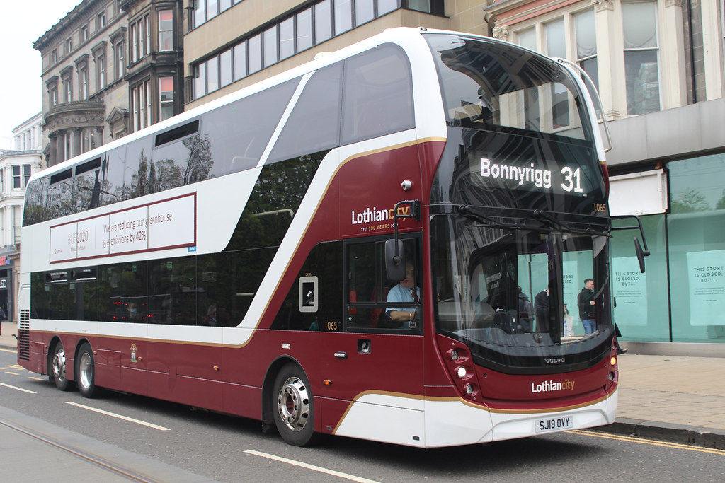 (1065) SJ19OVY On Route 31 to Bonnyrigg (GF) (May2021) (C1300D)