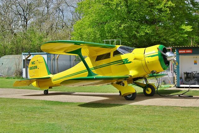 NC18028 Beechcraft D17S Staggerwing --- Popham 12-5-21