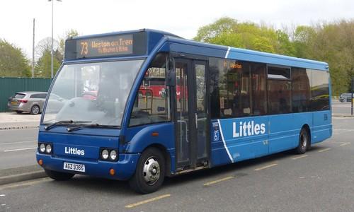 AGZ 9365 'Littles Transport Ltd' No. B12, Ilkeston. Optare Solo M920 on Dennis Basford's railsroadsrunways.blogspot.co.uk'