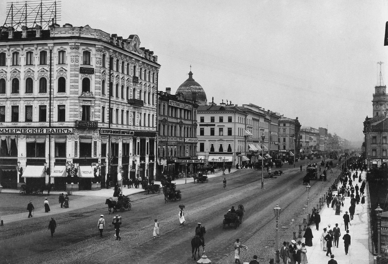 1906. Невский проспект у Малой Конюшенной улицы