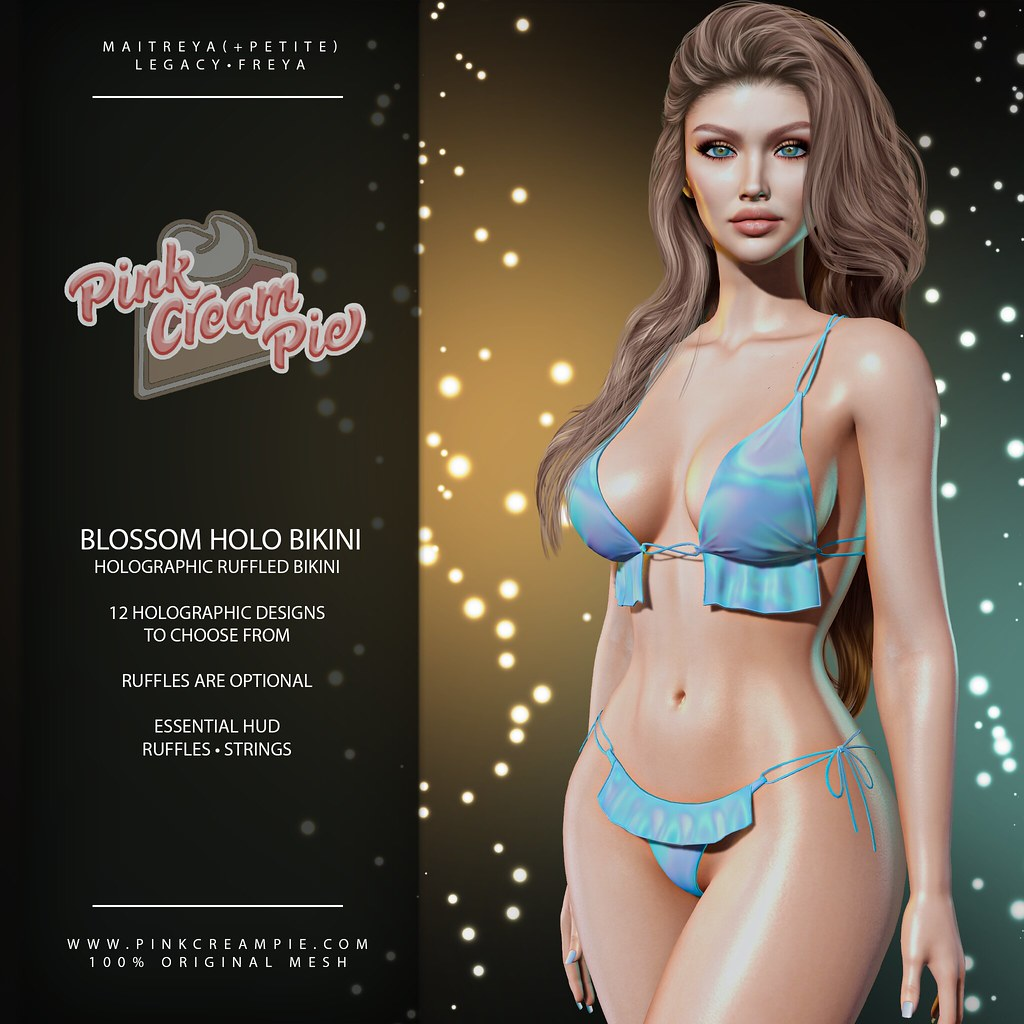 Blossom Holo Ruffled Bikini @ The Saturday Sale 5/15